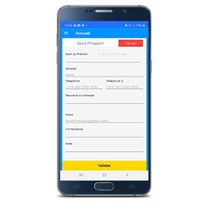ajouter prospect dux-mobile ERP Tunisie