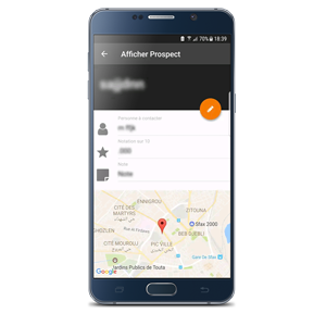 Afficher prospect dux mobile ERP Tunisie