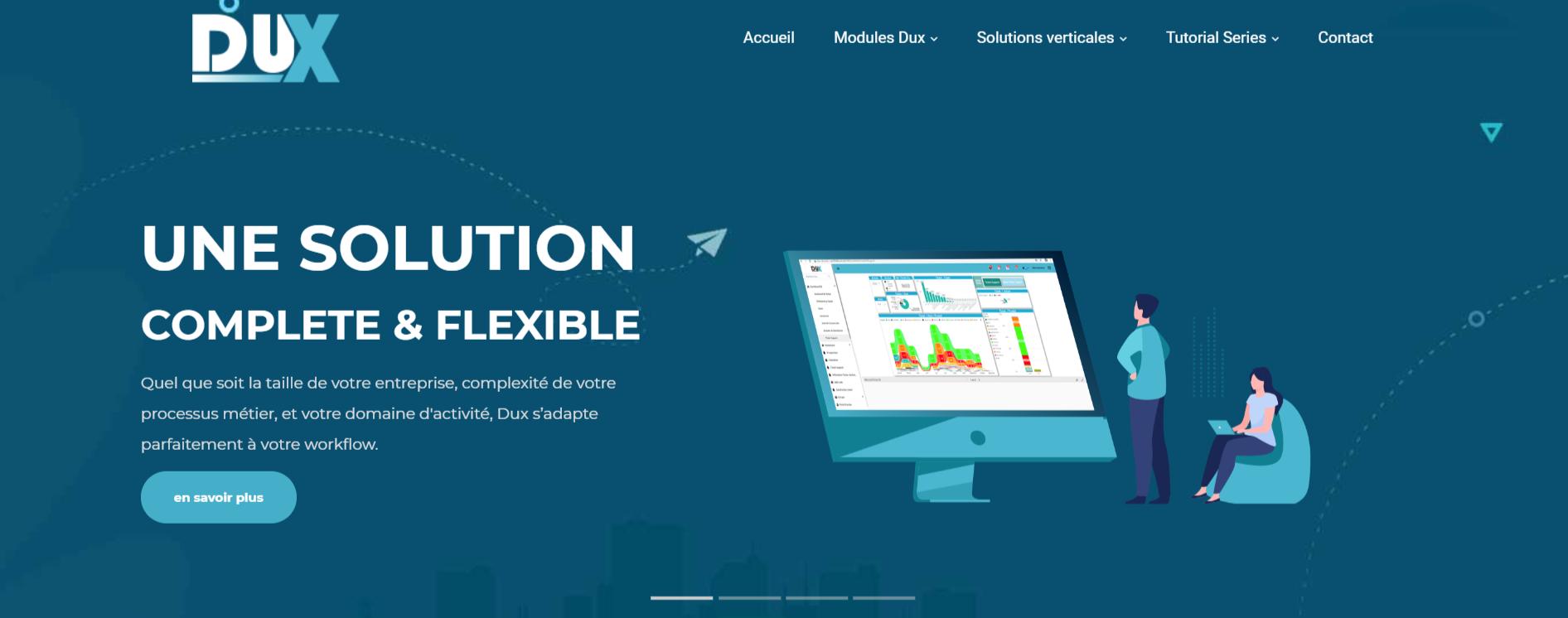 Nouveau concept du site web : Dux-erp.com
